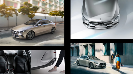 Mercedes-benz, clasa A, sedan, Limuzina, MULTIBEAM LED, HANDS-FREE, ACCESS, aerodinamic, radiatorului